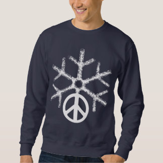 Snow with peace sweatshirt