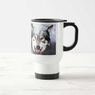 Snow Wolf Coffee Mugs