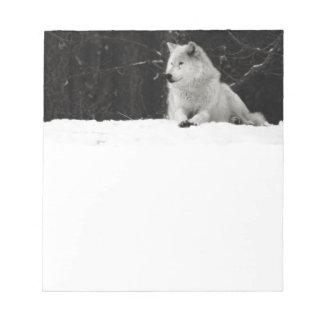 Snow Wolf Notepad
