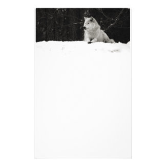 Snow Wolf Personalised Stationery