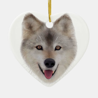 Snow Wolf Sketch Christmas Ornament