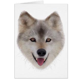 Snow Wolf Sketch Greeting Card