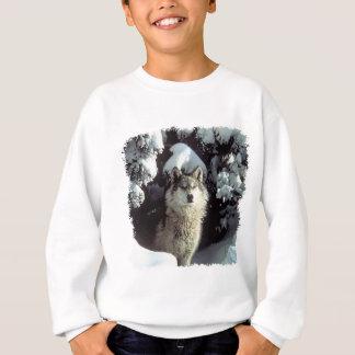 Snow Wolf  Wolves Sweatshirt