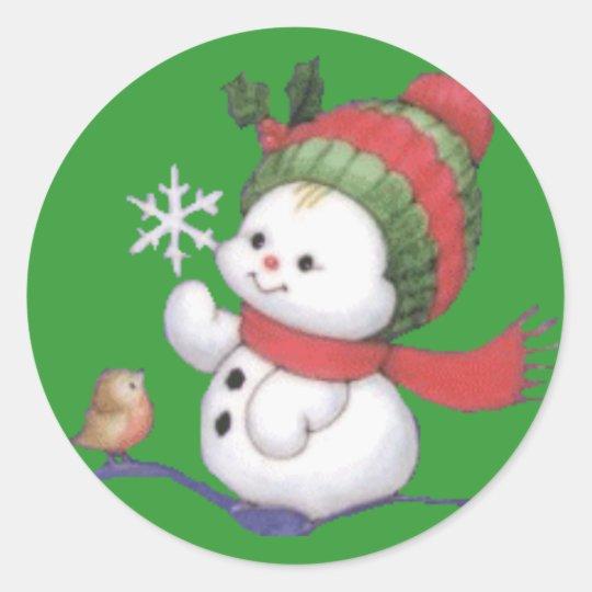 snowbaby classic round sticker