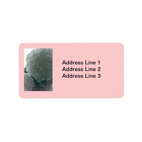 Snowball Bush Label Address Label
