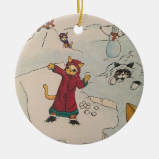 Snowball Fight Christmas Ornament