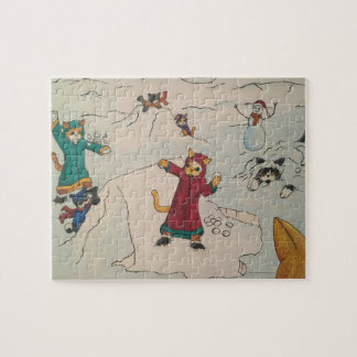 Snowball Fight Jigsaw Puzzle