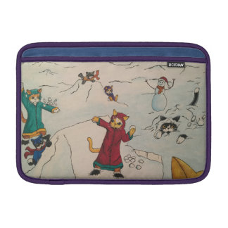 Snowball Fight MacBook Sleeve