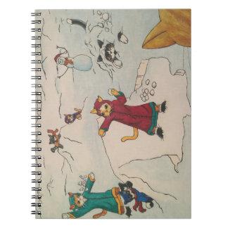 Snowball Fight Spiral Notebook