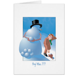 Snowball Surprise Card