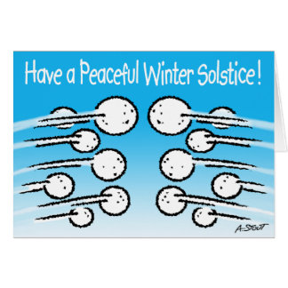 Snowball Winter Solstice Card