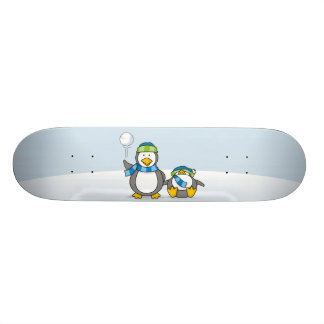 Snowballing penguins 20.6 cm skateboard deck