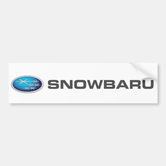 Snowbaru (blue gradient) Bumper Sticker - SUBARU
