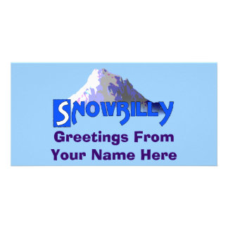 Snowbilly Custom Photo Card