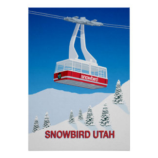 Snowbird Ski Resort Cable Car Poster