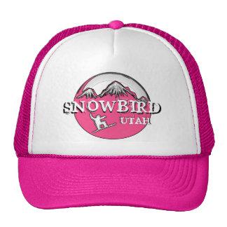 Snowbird Utah pink theme snowboard hat