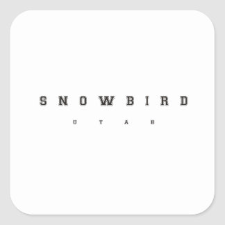 Snowbird Utah Square Sticker