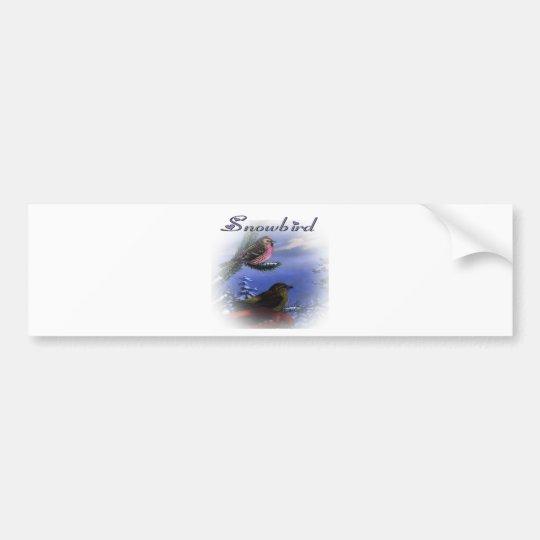 Snowbird violet bumper sticker