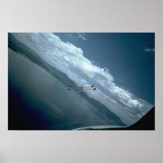 Snowbirds View From Air Rear Print