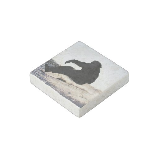 snowboard-32 stone magnet