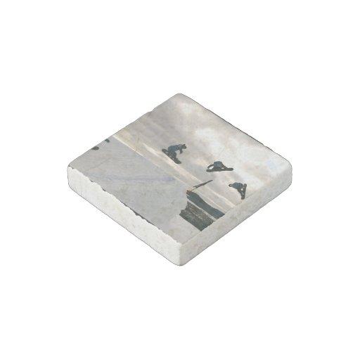 snowboard-6 stone magnet
