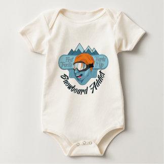 Snowboard Addict Baby Bodysuit