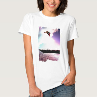 Snowboard Air Ladies Fitted T-Shirt