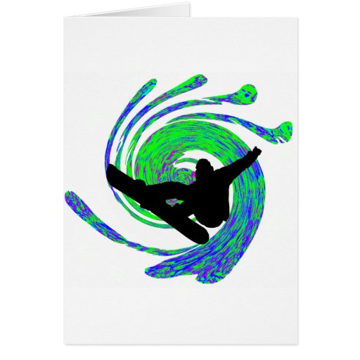 Snowboard All Levels Greeting Cards