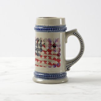 Snowboard American Flag Big Dot Photo Stein Beer Steins