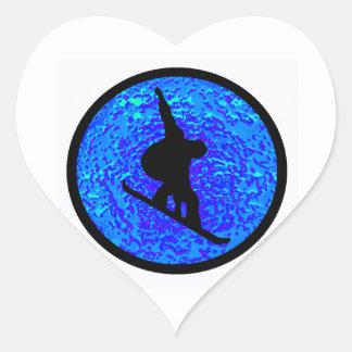 Snowboard Bluesy Stylers Heart Sticker