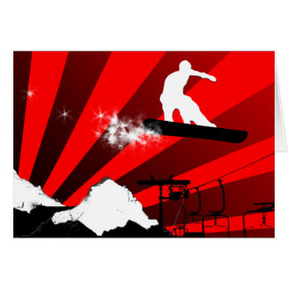 snowboard. greeting card