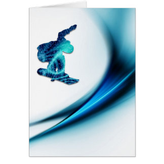 Snowboard Design Greeting Card