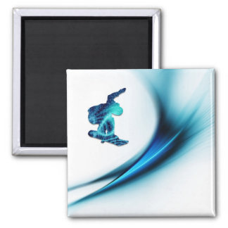 Snowboard Design Square Magnet Fridge Magnet