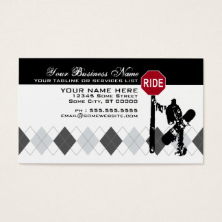snowboard... directions? business card