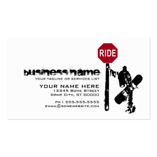 snowboard... directions? business card template