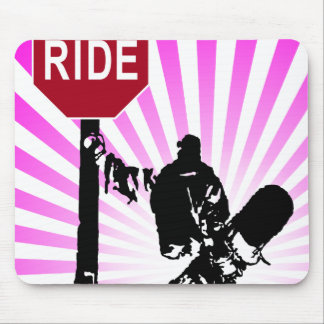 snowboard... directions? mouse pad