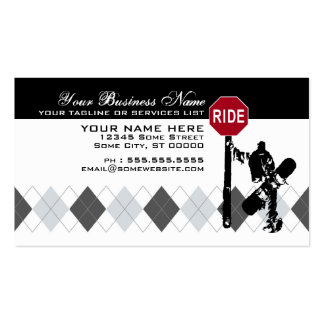 snowboard... directions? pack of standard business cards