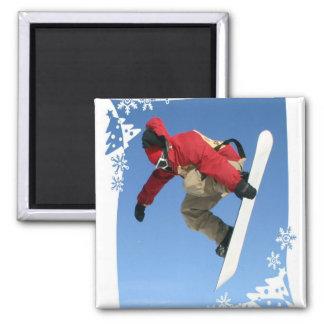 Snowboard Grab  Magnet Refrigerator Magnet