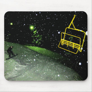 Snowboard House Mouse Pad