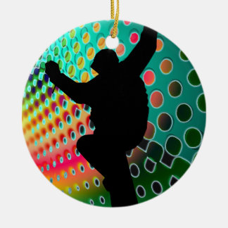 Snowboard in Cosmic Snowstorm Christmas Ornament