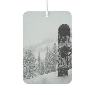 Snowboard In Snow Car Air Freshener