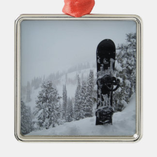 Snowboard In Snow Christmas Ornament