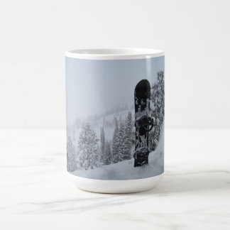 Snowboard In Snow Coffee Mug