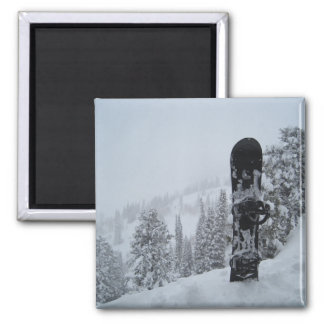 Snowboard In Snow Fridge Magnet