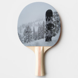 Snowboard In Snow Ping Pong Paddle
