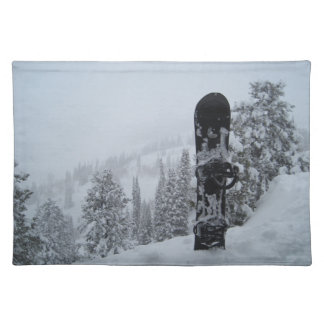 Snowboard In Snow Placemat