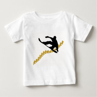 snowboard in town tshirt