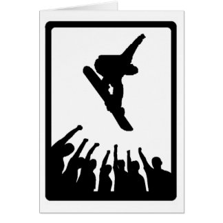 snowboard its textbook greeting card