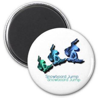 Snowboard Jumps Magnet Refrigerator Magnet