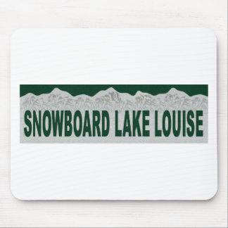 Snowboard Lake Louise Mousepad